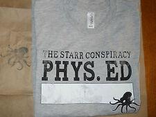 NEW ~ Gray Short Sleeve T-shirt  ~ Size M ~  Starr Conspiriacy Phys Ed