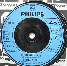 """PETERS & LEE - Hey Mr Music Man - Excellent Condition 7"""" Single Philips 6006 502"""