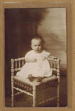 Carte Photo vintage card RPPC Scheffermeyer Malines bébé robe baptême kh0345