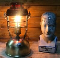 Industrial 1970's Vintage Tilley Lamp, Retro, Unique Edison Mancave Camping Red