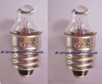 2X of K222 Krypton E10 Screw Lens Bulb 2.33V 0.7A for 2-Cell 3V Replaces: 222