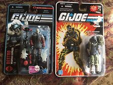 GI JOE 25TH SNAKE EYES WITH ARCTIC GEAR AND  ARCTIC DESTRO NEW NEVER OPENED