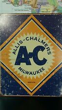 Allis Chalmers AC Milwaukee Made in USA tin sign