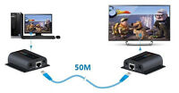 HDMI Extender Over Single Cat6 200FT IR Repeater Cat6 Receiver 1080P