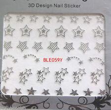 Decorazioni in argento metallico per unghie