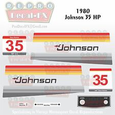 1980 Johnson 35 HP Sea-Horse Outboard Reproduction 13 Pc Marine Vinyl Decals