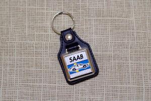 Saab 9-5 Keyring 2010-2012 - Leatherette & Chrome Keytag