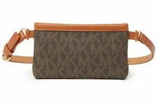 NEW MICHAEL KORS FANNY PACK BELT BAG SIGNATURE LOGO BROWN LEATHER 551749 Size S