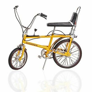 TW41600 Toyway Raleigh Chopper Mk1 Yellow Bicycle Diecast Metal Model 1:12 Scale