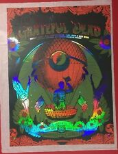 GRATEFUL DEAD CHICAGO POSTER GD50 STATUS SERIGRAPH PRINT FOIL VARIANT GREEN RED