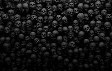 A4 Poster – Pared de cráneos humanos (impresión de foto Grim Horror Gótico Muerte Arte)