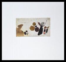 Julius Bissier 28 XI 56 poster immagine stampa d'arte con telaio in alluminio in nero 50x50cm