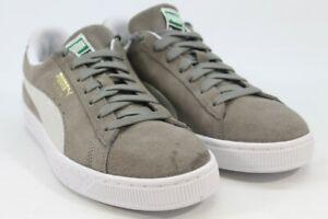 Puma Suede Classic Men's Steeple Grey/White Sneakers 9.5M(ZAP11003)