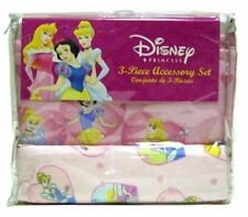 3pc Crib Bedding Set Blanket Crib Skirt Diaper Stacker Disney Princesses New