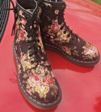 Dr Martens 1460 black victorian flowers canvas boots UK 5 EU 38