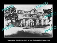 OLD LARGE HISTORIC PHOTO OF MOUNT GAMBIER SA THE SOUTH AUSTRALIAN BREWERY c1900