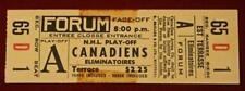 Rare Vintage Montreal Canadiens Unused Stanley Cup Playoffs Ticket 1959 or 1960!