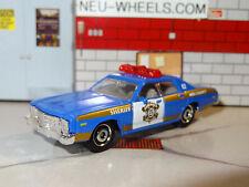 1975 DODGE MONACO SHERIFF POLICE CAR 1/64 DIECAST REPLICA DIORAMA MODEL E