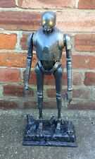 Custom hand painted with base large Star Wars K2SO droid diorama light up eyes
