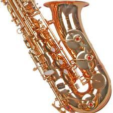 Karl Glaser Alt Saxophon mit Koffer, Mundstück + Blättchen, Farbe freie Auswahl