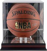 Los Angeles Lakers Mahogany Frmd 2020 Finals Champs Logo Basketball Display Case