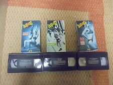 USED VHS MOVie Lot Of 3 CRUNCH Fitness Yoga, Buns & Fat Blaster Workout