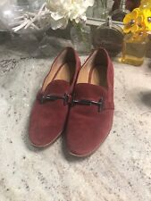 323e672e3be Franco Sarto Harlow Womens 9 M Red Suede Slip On Loafers Flats Shoes