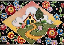 RARE SIGNED ART PRINT BY Mary Engelbreit  fairy COTTAGE RETIRED