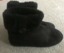Women's Black Slipper Boots Size 6
