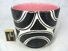Rare late 60´s design Schlossberg Keramik  pottery flowerpot Blumen Übertopf