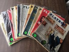 Playboy Magazine Full Year Set 1961 All 12 Issues. Complete Collection. Nude Lot