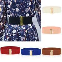 Femmes ceintures larges femmes large ceinture élastique boucle taille robe