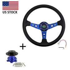 Us 135 Steering Wheel With Quick Release Adapter Boss Kit For Modified Car