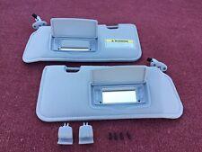 2001-2009 Ford Escape Mercury Mariner Sun Visors Set Lighted Grey OEM