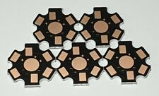 LED Heat Sink Base Plate 20mm Black / Bronze - 5 Pack - 1W-3W - UK - Free P&P