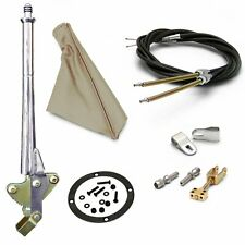 16� Trans Mnt E-Brake Handle~Tan Boot, Chr Ring, Cable Kit, Ford Clevis' hot
