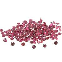 Wholesale Lot of 1.5mm Round Faceted Rhodolite Garnet Loose Calibrated Gemstone