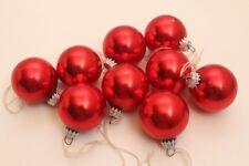 9 boules de noël boules de Noël sapin de noël boules rouge brillant