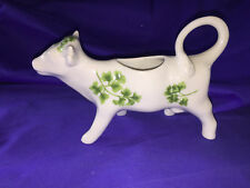 Andrea By Sadek Numbered Green and White Cow Creamer