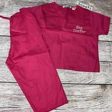 Scoots 2T Pink Scrubs Big Sister Two Piece Outfit Set New