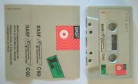 MC Musicassetta BASF C 60 vintage cassette audio tape no agfa ampex tdk sony