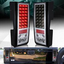 FOR HUMMER H2 BLACK HOUSING CLEAR LENS LED REAR BRAKE TAIL LIGHTS LAMPS LH+RH