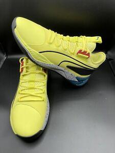 New Puma Uproar Hybrid Court Thunder Yellow Basketball Shoes Men's Size 11.5