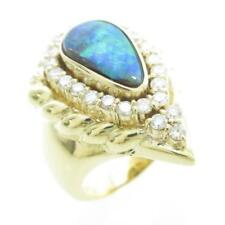 Authentic K18 Yellow Gold Boulder Opal ring  #246-000-167-1940
