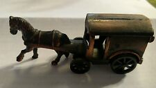 VINTAGE HORSE CAR PENCIL SHARPENER DIE CAST MINIATURE CARRIAGE FREE SHIPPING