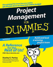 Project Management For Dummies by Stanley E. Portny (Paperback, 2006)