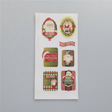 60pcs Christmas Cake Candy Baking Bag Sticker Seals Labels Decals Tags FTUK