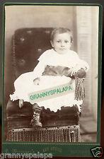Cabinet Photo - Bucyrus, Ohio - Close Up, Baby With Dark Eyes In Chair W/Tassles