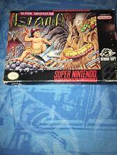 Super Adventure Island Super NES, 1992 *COMPLETE* IN BOX W/ MANUAL