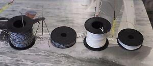 Dyneema line on 20m & 50m reels  1.0mm in white , 1.5mm in black/fleck